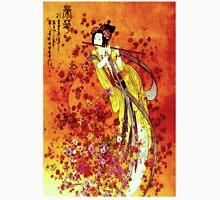 """JAPANESE GEISHA FLUTIST"" Vintage Decorative Painting Print Unisex T-Shirt"