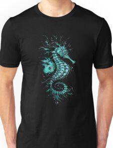 Cyan Seahorse Unisex T-Shirt