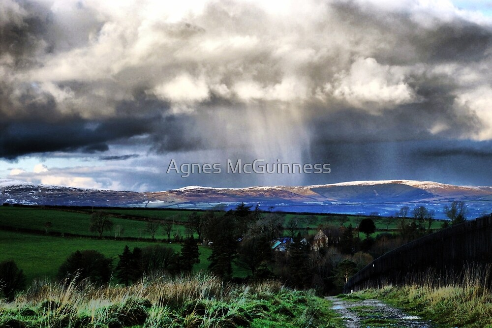 Snow on the hills by Agnes McGuinness