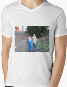brokeback mountain Mario edition Mens V-Neck T-Shirt