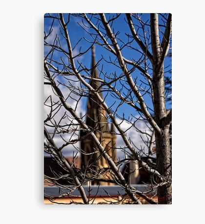 A church in Cooma/NSW/Australia Canvas Print