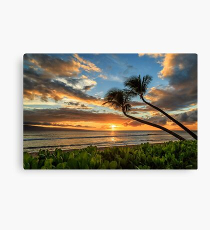 Sunset In Kaanapali Canvas Print