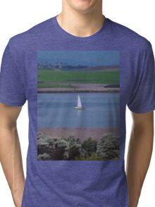 **Yacht in Tasmania** Tri-blend T-Shirt