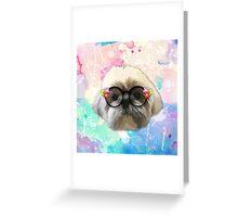 Shih tzu dog 2 Greeting Card