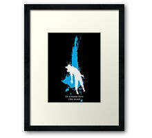 """For a minute there, I lost myself"" - Radiohead - light Framed Print"