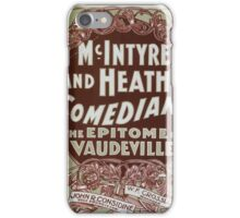 Performing Arts Posters McIntyre and Heaths Comedians the epitome of vaudeville 0353 iPhone Case/Skin