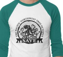 Save the Pacific Northwest Tree Octopus Men's Baseball ¾ T-Shirt