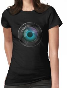Lens with an eye Womens Fitted T-Shirt