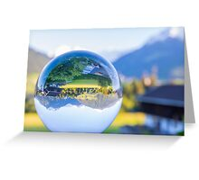 Golden sunset with crystal ball Greeting Card