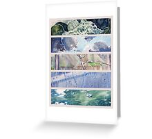 Rain Comes Down Greeting Card
