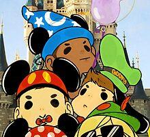 Team Arrow Goes: Disneyland! by TheKeyThief