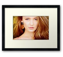Photo of young beautiful woman Framed Print