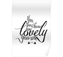 You Don't Know How Lovely You Are Poster