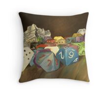 Holy Relics of the Gamer Throw Pillow