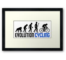 Evolution Cycling Framed Print