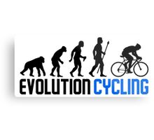 Evolution Cycling Metal Print