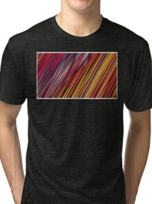 Color and Form Abstract - Striped Line Rain of Reds and Yellows Tri-blend T-Shirt