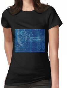 0409 Railroad Maps The Union Pacific system of railroad and steamship lines Inverted Womens Fitted T-Shirt