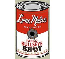 Fargo Soupcan Bullet Hole Photographic Print