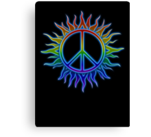 Peace Sign Sun Canvas Print