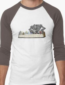 the Last Supper...with ROBOTS Men's Baseball ¾ T-Shirt