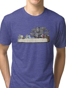 the Last Supper...with ROBOTS Tri-blend T-Shirt