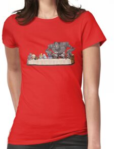 the Last Supper...with ROBOTS Womens Fitted T-Shirt