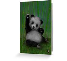 HAPPY PANDA Greeting Card