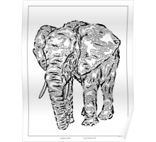 """Elephant Spirit"" version1 - surreal tribal totem animal Poster"