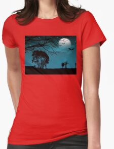 happy halloween celebration  Womens Fitted T-Shirt