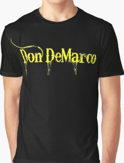 Don DeMarco - Yellow & Black Apparel & Accessories Graphic T-Shirt