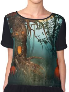 Scary Forest Halloween Chiffon Top