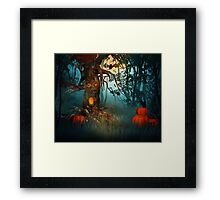 Scary Forest Halloween Framed Print