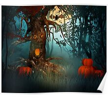 Scary Forest Halloween Poster