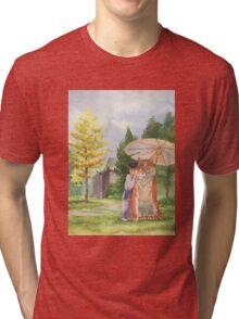 Little Shifu and Tiger Tri-blend T-Shirt