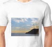Sunset at the sea in Vernazza. Unisex T-Shirt