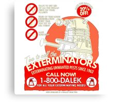 Dalek Exterminators Canvas Print