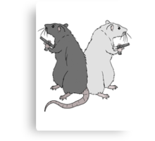 Rats with Gats Canvas Print