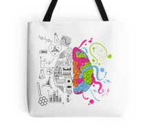 Analytical and Creative Brain Tote Bag