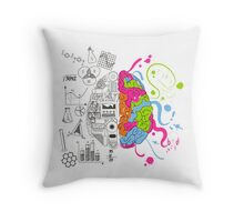 Analytical and Creative Brain Throw Pillow