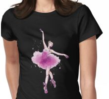 Watercolor ballet dancer Womens Fitted T-Shirt