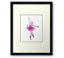 Watercolor ballet dancer Framed Print