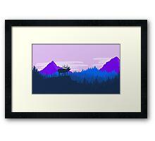 Elk Dawn Framed Print