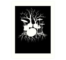 """""""Live the Beat to the Tempo of Creation"""" ~ drum tree art , version1 Art Print"""