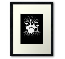 """Live the Beat to the Tempo of Creation"" ~ drum tree art , version1 Framed Print"