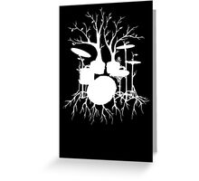 """Live the Beat to the Tempo of Creation"" ~ drum tree art , version1 Greeting Card"