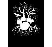 """Live the Beat to the Tempo of Creation"" ~ drum tree art , version1 Photographic Print"