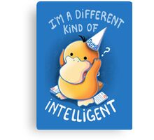 Dumb but Intelligent Canvas Print