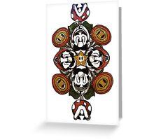 Super Mario Bros. Mandala Greeting Card