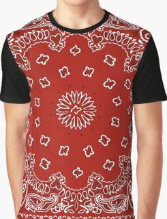 Bandana Print - Red  Graphic T-Shirt